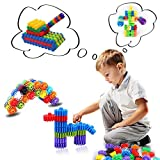Creative Snowflake Educational Building Wheel Gear Construction Blocks Set for Kids Baby Boys Girls Assembled Lego Style Puzzle Nursery Toys Pack of 40 Pieces