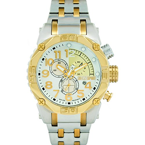 Technosport TS-560-7 Men's Two-Tone Stainless Steel Watch 46mm Swiss Chronograph
