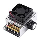 AC 220V 4000W SCR Electric Voltage Regulator Output Voltage Stabilizer Transformer Switch Dimmer Temperature Motor Speed Controller with Fan