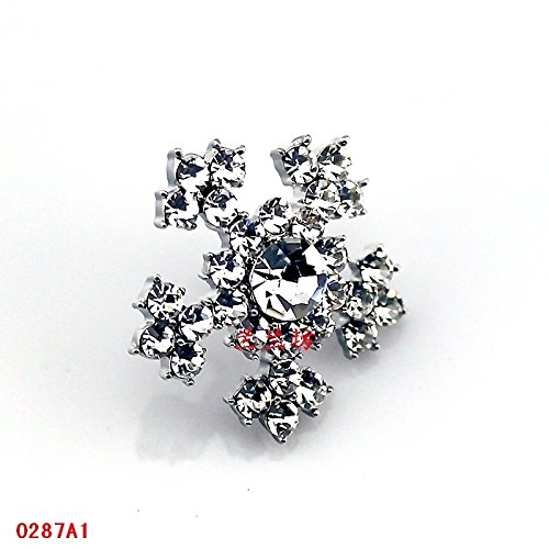(Snowflake brooch small chest nail Shin Kong pectoral ornaments fine jewelry collar small jewelry )