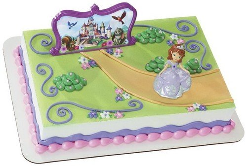 Sofia the First Background Edible Icing Image Cake