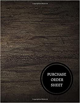 amazon purchase order sheet purchase order log journals for all