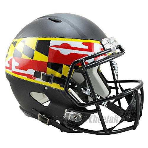 Maryland Terrapins Officially Licensed NCAA Speed Full Size Replica Football Helmet by Riddell