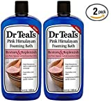 Dr Teal's Restore & Replenish Pure Epsom Salt & Essential Oils Pink Himalayan Foaming Bath 34 oz (Pack of 2) Dr. Teal's