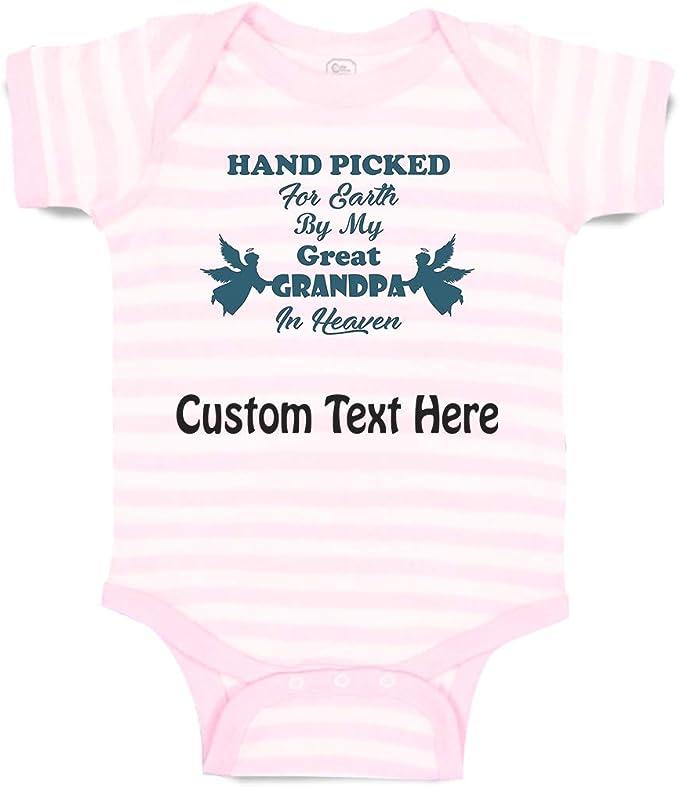 Grandchild Baby Shower New Baby Gift New Parents FREE SHIPPING Personalized Baby Boy White Baby Bodysuit Baby Boy/'s 1st Birthday