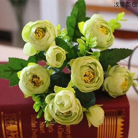 Mazzo Di Fiori Verdi.Jiale3536 Fiori Artificiali Il Mazzo Di Fiori Bract Fiori Fiore