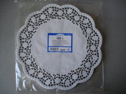 Large Doilies. 100 Pcs Round Lace Paper Plates on a Table. Diameter (New Large Round Doily)