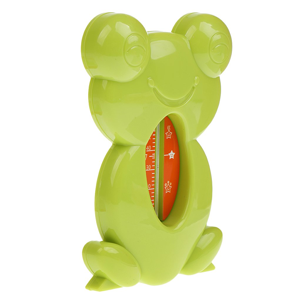MagiDeal Cute Floating Frog Toy Bath and Room Tub Thermometer High Temperature Alert, PP Material - 11.5x7.8cm, Green