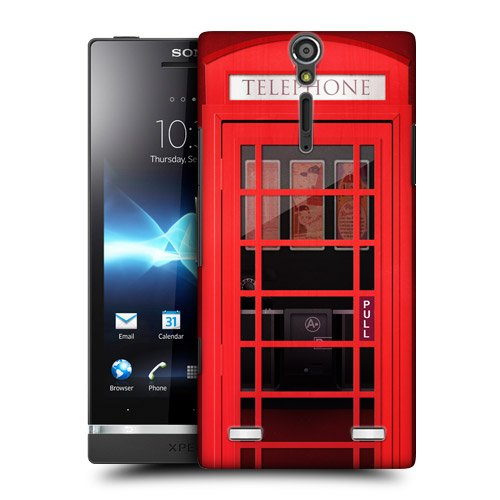 Head Case Designs K6 Telephone Booth Protective Snap-on Hard Back Case Cover for Sony Xperia S LT26i