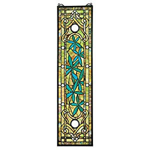 Stained Glass Panel - Asian Serenity Bamboo Garden Stained Glass Window Hangings - Window Treatments