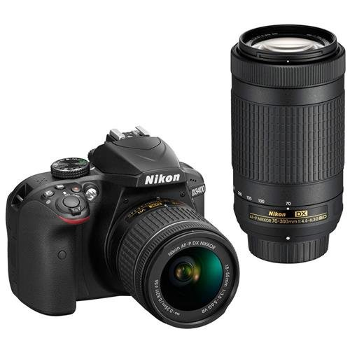 Nikon D3400 DSLR Camera with AF-P DX NIKKOR (Large Image)
