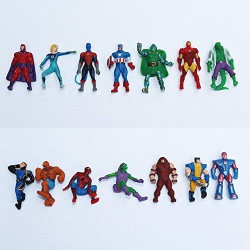 Marvel 10 Figurines Super Heros generique
