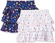 Amazon Brand - Spotted Zebra Girls Disney Star Wars Marvel Frozen Princess Knit Ruffle Scooter Skirts