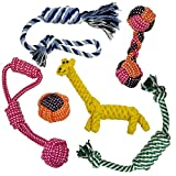 Rope Dog Toys, Holiday 6 Pack Set for...