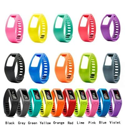i-smile® 10PCS Colorful Replacement Bands with Metal Clasps for Garmin Vivofit(No tracker, Replacement Bands Only) & Silicon Fastener Ring For Free - Provided by i-smile®