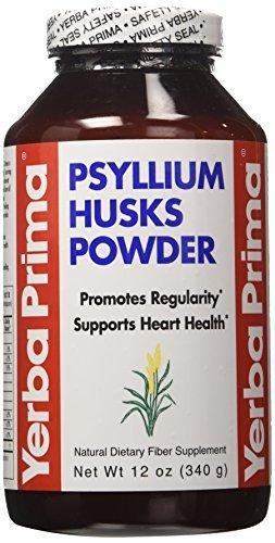 Psyllium Husks Powder 12 Ounces ( 12-Pack) by Yerba Prima