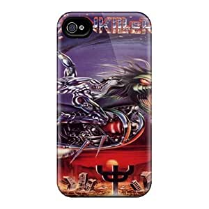 Shock Absorption Hard Cell-phone Cases For Iphone 4/4s (rFX4688WUth) Allow Personal Design Vivid Judas Priest Band Skin
