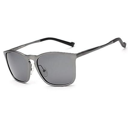 Aclth Retro Gafas de Sol polarizadas de los Hombres Ligeros Marco de Aluminio y magnesio Protección
