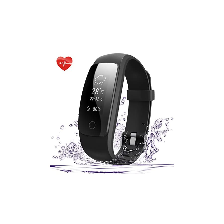 007plus Fitness Tracker HR, D107Plus Heart Rate Monitor Fitness Smart Watch Activity Tracker with Sleep Monitor IP67 Waterproof Pedometer Smart Wristband