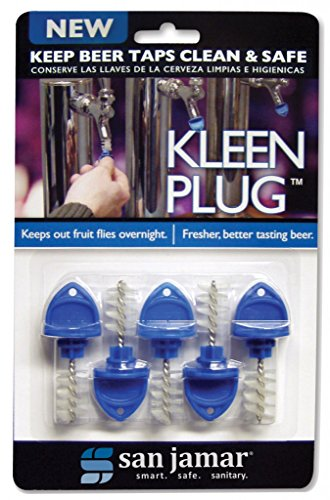 San Jamar KLP200 Kleen Overnight Beer Tap Plug, [Set of 5]