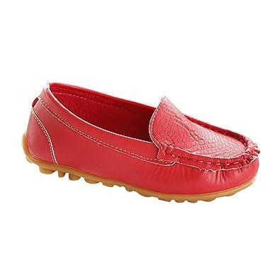 301df218b0 Daytwork Casual Moccasin Leather Loafer - Boys Girls Flat Toddler ...