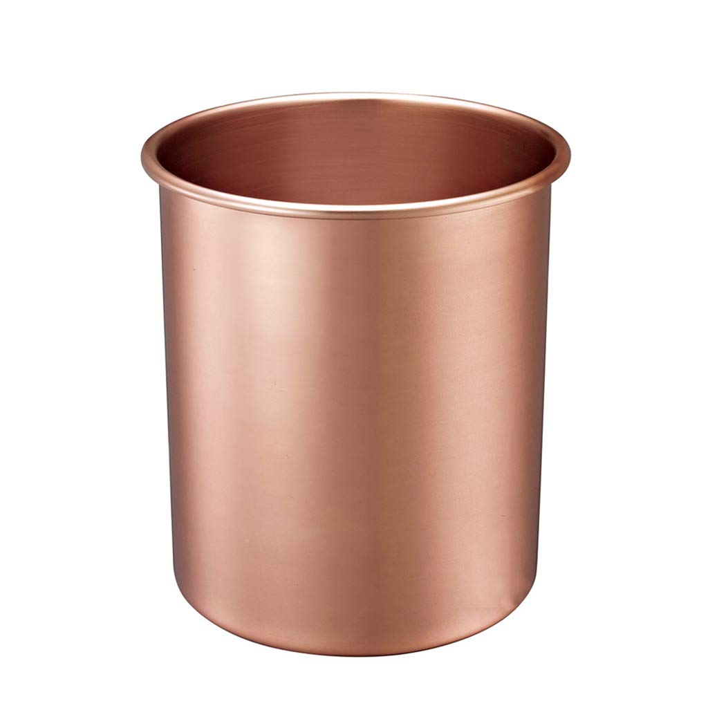 CSQ Cylindrical Trash Can, Bathroom Office Classroom Study Metal Trash Can 25.525.529CM Indoor