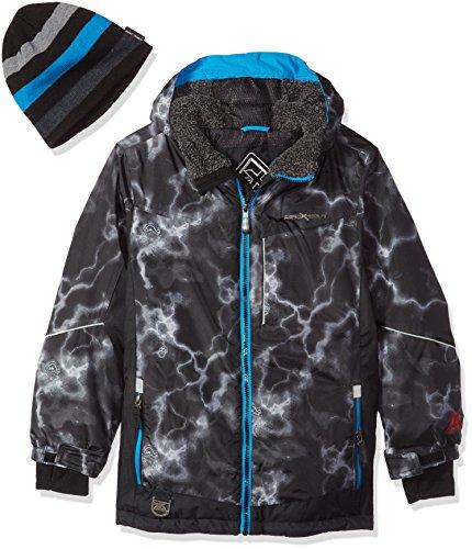 ZeroXposur Big Boys' Victor Snowboard Jacket, Black Print, Medium