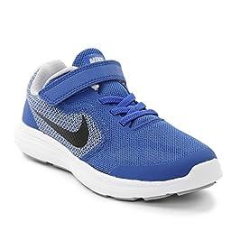 Nike Boy\'s Revolution 3 (PSV) Running Shoes (2 Little Kid M, Came Royal/Black-WLF Grey/White)