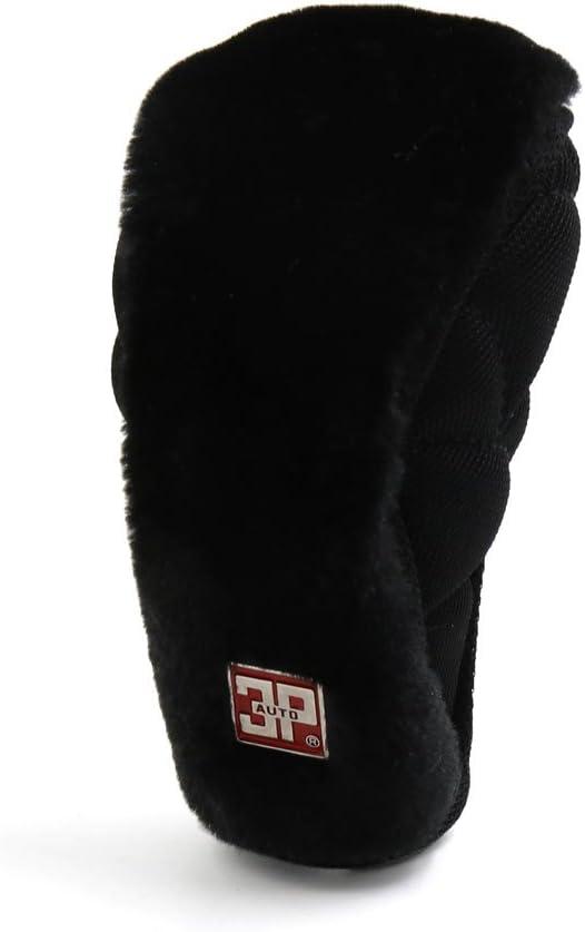 uxcell Black Nylon Flannel Zipper Closure Protective Cover for Car Shift Lever Knob