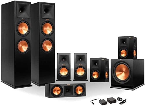 Klipsch 7.1 RP-250 Reference Premiere Surround Sound Speaker Package with R-110SW Sub and a Free Wireless Kit Ebony