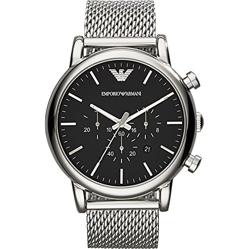 Emporio Armani Men's AR1808 Dress Silver Watch (Armani Watch Stainless Steel compare prices)