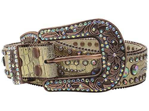 - Nocona Women's Big Round Conchos Belt, Gold, XL