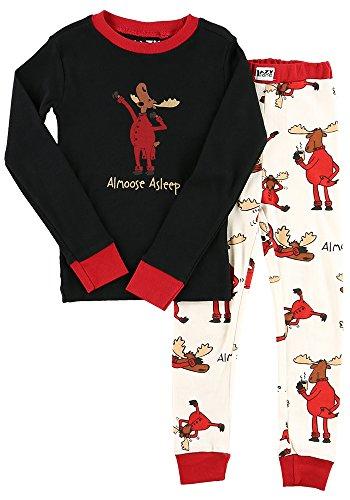 Kid's Long Sleeve Pajama Sets by LazyOne | Cute Animal PJs for Boys and Girls Christmas Pajamas (2T, Almoose (Cute Christmas Pajamas For Girls)