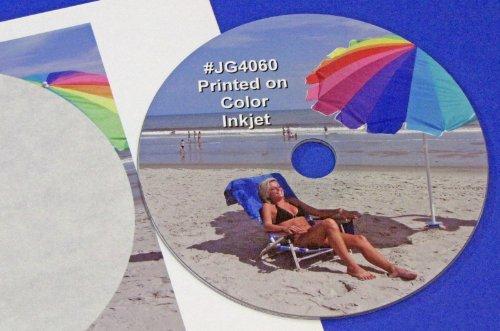 CD DVD Blu-ray Full Face Inkjet Glossy Labels 50 sheets #JG4060