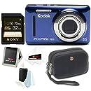 Kodak PIXPRO Friendly Zoom FZ53 (Blue) + Sony 32GB Class 10 70MB/s SDHC Memory