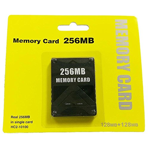 KOBWA 256MB Memory Card for Sony Playstation 2 - High Speed PS2 32/128/256 MB Console Game Memory Save Card, Black