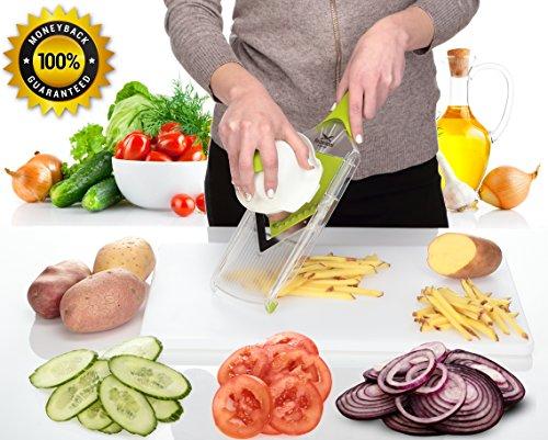 Mandoline Slicer - Premium Vegetable Cutter for Potato Chips, Onion, Tomato, Cucumber, (Homemade Potato Chips)