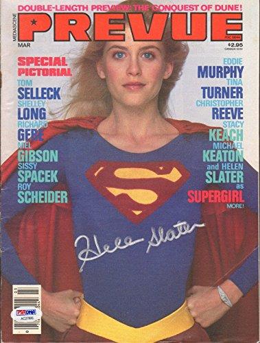 Prevue Magazine SUPERGIRL Helen Slater TINA TURNER Topless Melanie Griffith TOM SELLECK Stacy Keach RICHARD GERE February 1985 (Mediascene Prevue)