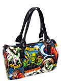 US Handmade Fashion Monster Frankenstien Horror Hollywood Movies Halloween Gothic Doctor Bag Satchel Style handbag pruse cotton fabric, DRB1308-2, Bags Central