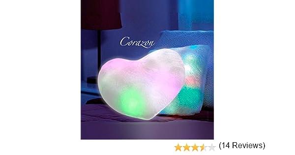 Cojín luz led corazon