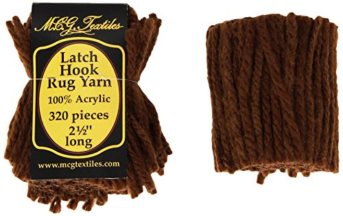 M C G Textiles Latch Hook Rug Yarn, Dark Rust