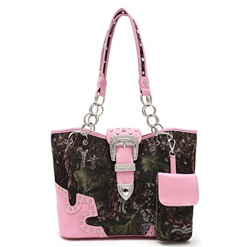 best-pink-vegan-leather-camo-purse-bling-chain-handbag-great-unique-birthday-mother-day-nurse-colleg