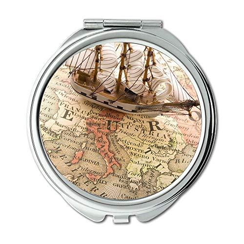 Yanteng Mirror,Travel Mirror,Map Wallpaper map of Africa,Pocket Mirror,Portable Mirror