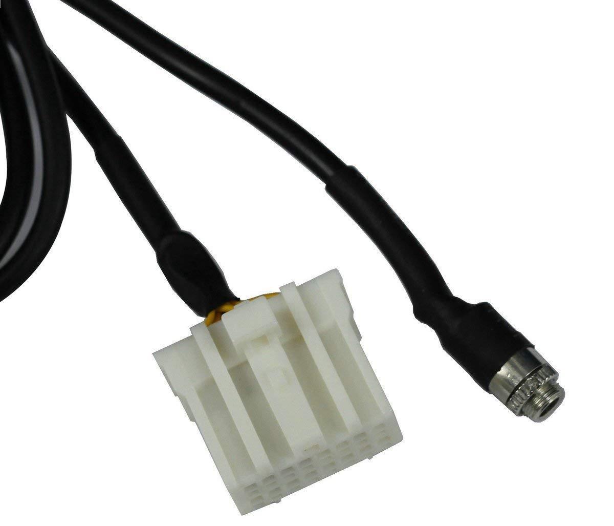 MP3 a Mazda 2 Cable Adaptador de Audio Hembra para iPod iPhone 4 5 MX-5 5 3 RX8 Eidoct AUX 5S 6 4S