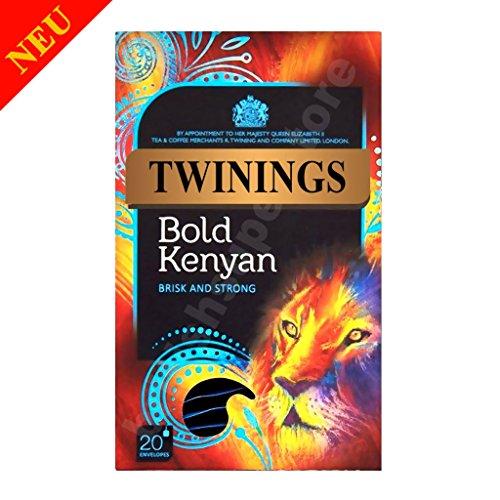 Twinings Bold Kenyan Tea 20 Individually Enveloped String & Tag Tea Bags by Twinings