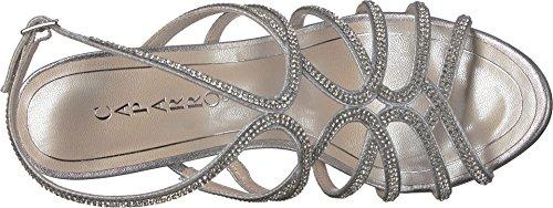 Caparros Donna Helena In Tessuto Open Toe Occasione Speciale Sandali Slingback Argento Metallizzato