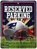Rico NFL New England Patriots 8-Inch by 11-Inch Metal Parking Sign Décor