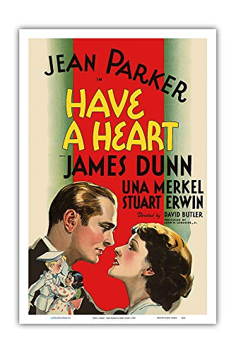 - Pacifica Island Art - Have a Heart - Starring Jean Parker & James Dunn - Directed by David Butler - Vintage Film Movie Poster c.1935 - Master Art Print - 12in x 18in