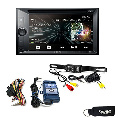(Sony XAV-W651BT CD/DVD Receiver with Bluetooth, Steering Wheel Control Interface and Back Up Camera )