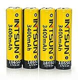 Best Intsun Rechargeable Headlamps - Intsun® 4pcs 3.7V 18650 3400mah Rechargeable Li-ion Battery Review